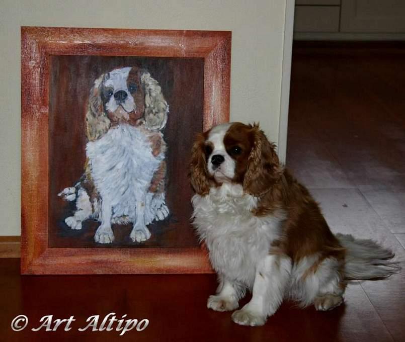 Charley met schilderij